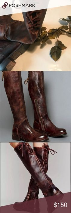 BED Stu Free People Teak Glaze riding boot Preloved with tons of life left, (boots already have a worn rustic look to them) size says 7, but they run a bit large in my opinion and fit more like an 8, last picture for reference. If my memory is right, the color was teak Glaze Bed Stu Shoes Combat & Moto Boots