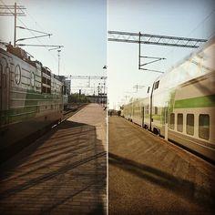Päivän häilyvät muistot. Maailmaa junamatkaajan silmin. Kuin kaksi marjaa... #Tampere #Pori #kumpionkumpi