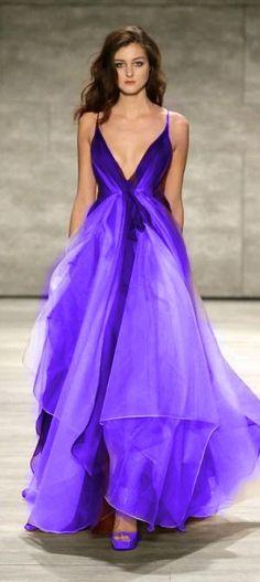 Purple - Leanne Marshall - Runway - Mercedes-Benz Fashion Week Fall 2015 @ http://mbfashionweek.com