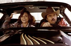 """""""Smokey and the Bandit,"""" 1977  A total of five 1977 Pontiac Trans Ams were used in making the Burt Reynolds car-chase classic. According to legend, the car used in the river jump stunt was totaled on landing. - Famous Automobiles """"University Driving School"""""""