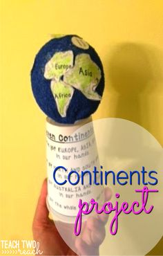 Learn the continents and their location relative to each other with this globe project 3rd Grade Social Studies, Social Studies Curriculum, Social Studies Activities, Teaching Social Studies, Globe Projects, Ocean Projects, Globe Crafts, Teaching Geography Elementary, Elementary Art