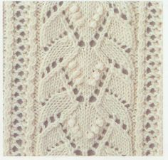 Lace Knitting Stitch #50....just click on picture of stitch you like and it shows graph chart of stitch