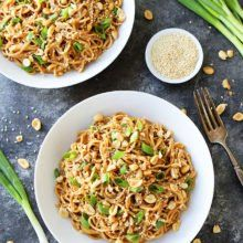 Sesame Noodles With An Amazing Asian Peanut Sauce Are Easy To Make At Home, You Only Need 20 Minutes, And They Taste Even Better Than Takeout! Vegetable Pasta, Vegetable Recipes, Sesame Noodles, Leftovers Recipes, Best Dinner Recipes, Noodle Recipes, Cookbook Recipes, Main Dishes, Side Dishes