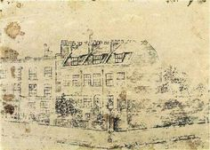 Vincent's Boarding House in Hackford Road, Brixton, London - Vincent van Gogh, 1873 - Sketch and study. - Van Gogh Museum, Amsterdam, Netherlands