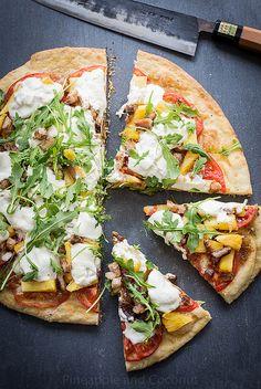 Celebrate with my Grilled Pineapple, Crispy Pork Belly, Burrata Arugula Pizza Pizza Recipes, Grilling Recipes, Healthy Recipes, Healthy Eats, Empanadas, Arugula Pizza, Best Homemade Pizza, Pineapple Pizza, Crispy Pork