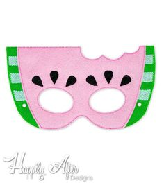 Watermelon Mask Embroidery Design food mask machine embroidery ITH mask in the hoop mask embroidered mask 57 610 fruit mask melon Sebze yemekleri Embroidery Scissors, Machine Embroidery, Sewing Patterns Free, Free Sewing, Fruit Crafts, Printable Masks, Scary Costumes, Make Your Own Dress, Animal Masks