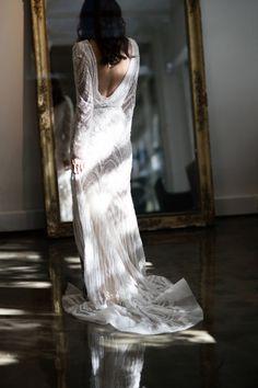 Lovely open back wedding gown