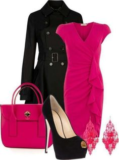 Pink and black Pretty Outfits, Cool Outfits, Fashion Outfits, Womens Fashion, Dress Outfits, Night Outfits, Sexy Dresses, Beautiful Dresses, Summer Outfits