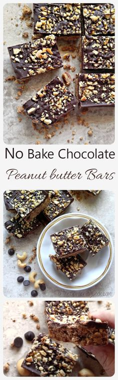 These no bake chocolate peanut butter bars are crunchy, and sweet and creamy…