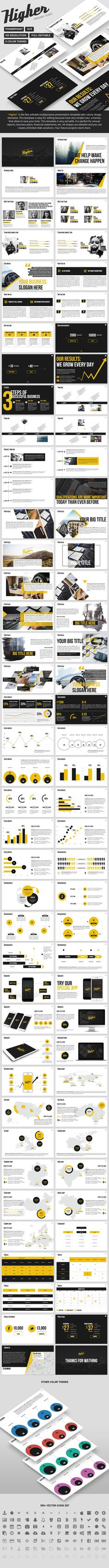 Higher - Creative PowerPoint Template. Download here: http://graphicriver.net/item/higher-creative-powerpoint-template-/15182057?ref=ksioks