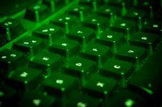 {3/8} Keyboard 3 of 4, Natural Light + Green Downlight