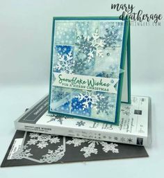 Stamps-N-Lingers Snowflake Splendor Sneak Peek for the Happy Inkin' Thursday Blog Hop | Stamps – n - Lingers Christmas Card Crafts, Stampin Up Christmas, Christmas Tag, Holiday Cards, Xmas Cards, Snowflake Cards, Snowflakes, Thing 1, Travel Design