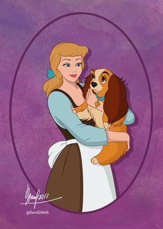 Cinderella & Lady (Disney Meets Disney by Fernl Disney Pixar, Walt Disney, Disney Marvel, Cute Disney, Disney Animation, Disney And Dreamworks, Disney Girls, Disney Magic, Disney Characters