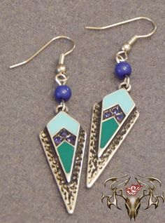 Silver, Teal, and Blue Arrow Head Earrings Visit www.twistedthingamajigs.com to place your order and see more of our merchandise.