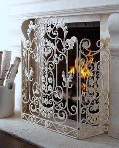 DreamDecorDesign.com <3 White Fireplace Cover
