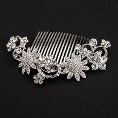 Silver Platinum Plating Sunflowers Wedding Headpieces – USD $ 22.77