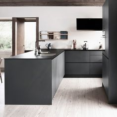 How to design your kitchen design in a thematic area – lamp ideas Grey Kitchen Designs, Beautiful Kitchen Designs, Rustic Kitchen Design, Home Decor Kitchen, Beautiful Kitchens, Interior Design Kitchen, Black Kitchens, Cool Kitchens, Küchen Design