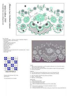 Alencon Lace Parchment Pattern on Craftsuprint designed by Robyn Cockburn - A delicate rendition of traditional Alencon Lace. Suitable for many occasions. Beginner to intermediate parcher level. - Now available for download!