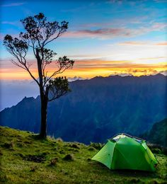 Camping on a Cliff Photo by James Mez — National Geographic Your Shot