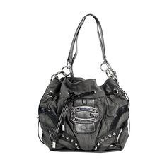 Guess PE259912 BLA Drawstring Hand Bag-Black Guess Handbags 7d899fda20dbb