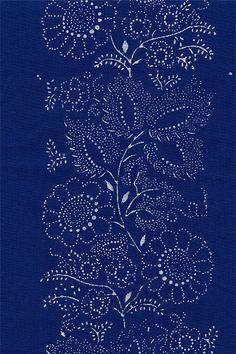 Kekfesto Cotton: Hand-dyed blue print fabric from Hungary Textiles, Textile Patterns, Bleu Indigo, Hungarian Embroidery, Pantone, Pretty Patterns, Pattern Illustration, Surface Pattern, Printing On Fabric