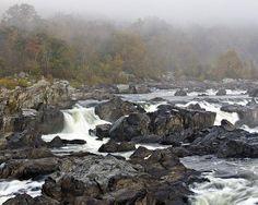 Foggy Great Falls by Francis Sullivan