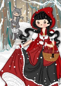 Red Riding Hood and the Big Bad Wolf (humanized) by neilabbott Caperucita Roja y el Lobo Feroz (humanizado).
