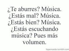 Infinito amor a la musica!! Sin ella que ariamos?? *_* <3