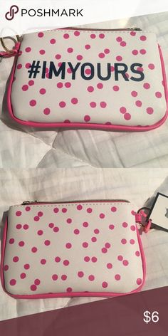 Dabney Lee Makeup Bag Super Cute White with Pink Trim and Polka Dots! Zippered Top 💕 BUNDLE and save on shipping! Bags Cosmetic Bags & Cases