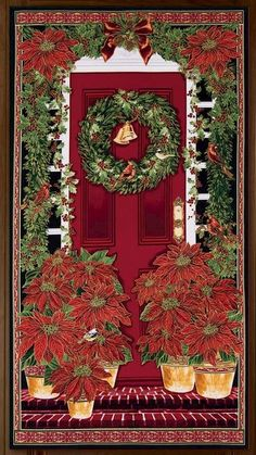 Easy Christmas Panel Kit Welcome Home For Holiday Wall Quilt Kit