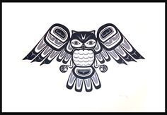 haida nation more haida art nation tattoo mills haida haida owl owl Arte Inuit, Arte Haida, Haida Art, Inuit Art, Native American Design, American Indian Art, Doodles Zentangles, Haida Tattoo, Native Tattoos