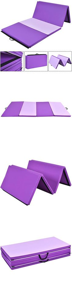 Exercise Mats 44079: 4X8x2 Gymnastics Mat Thick Folding Panel Gym Fitness Exercise Mat Purple/Pink -> BUY IT NOW ONLY: $79.99 on eBay!