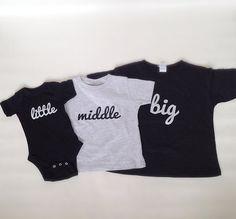 3Piece Little Middle Big Set by LittleFacesBoutique on Etsy 512b990d5