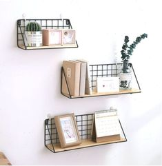 Wooden Iron Wall Shelf Wall Mounted Storage Rack Organization For Bedroom Kitchen Home Decor Kid Room DIY Wall Decoration Holder Iron Wall Decor, Diy Wall Decor, Home Decor, Wooden Wall Shelves, Wooden Walls, Shelf Wall, Rack Shelf, Vintage Bookshelf, Shelves In Bedroom