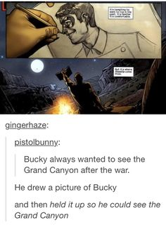 ''Bucky always wanted to see the Grand Canyon after the war...'' / Steve Rogers & Bucky Barnes :(