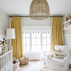 46 Stunning Custom Drapes For Your Beautiful Bedroom. Custom made drapes are able to make a major difference in bedroom decor. Now you've found a way to have those opulent custom made drapes at . Home Design, Interior Design, Nordic Interior, Baby Room Decor, Bedroom Decor, Nursery Decor, Baby Bedroom, Bedroom Ideas, Nursery Office