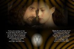 Aragorn and Arwen Descriptions. Oh Love, True Love, Awesome Movies, Good Movies, Aragorn And Arwen, Darkness Falls, Clear Face, Twin Flames, Fantasy Movies