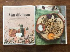 autumn illustrations for Libelle NL - GREENHOUSE prints & illustrations by Lotte Dirks