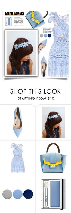 """""""So Cute: Mini Bags"""" by samra-bv ❤ liked on Polyvore featuring Steve Madden, self-portrait, Burberry, Clinique and vintage"""