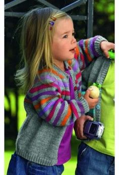 Crochet kids cardigan colour 46 Ideas for 2019 Knitting For Kids, Crochet For Kids, Crochet Baby, Hand Knitting, Knit Crochet, Baby Cardigan Knitting Pattern, Baby Knitting Patterns, Baby Patterns, Crochet Patterns