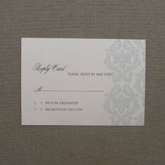 RSVP Card Template with Retro Typography | Retro typography, Card ...