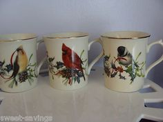 LENOX WINTER GREETINGS MUGS