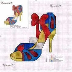 Snow White x-stitch shoe