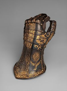 Armor garniture of George Clifford, Earl of Cumberland is a set of Greenwich armour made by Jacob Halder. Steel,gold, leather, textile H. kg Metropolitan Museum of Art Grey Knights, Arm Armor, Armor Suit, Knight Armor, Medieval Armor, Knights Templar, Metropolitan Museum, Rubber Rain Boots, Weapons