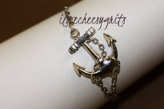 Hey, I found this really awesome Etsy listing at https://www.etsy.com/listing/181660478/anchored-silver-anchor-chain-bracelet