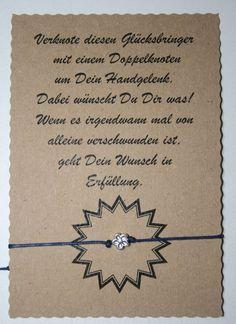 Glücksarmband Wunscharmband make a wish Freundschaft Armand Blume Silber Blau