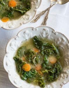 Miso Ginger Kale Soup @Susan Powers.com
