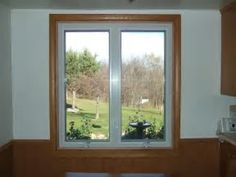 White Vinyl Windows With Dark Trim Bing Images Living