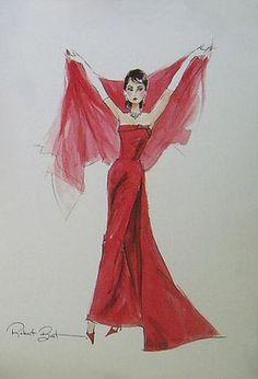 """Barbie Joie De Vivre - Audrey Hepburn """"Funny Face"""" Sketch by Robert Best"""