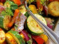 marinated veggies grill